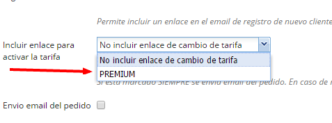Link activar tarifa